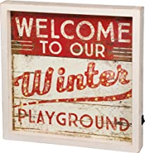Primitives by Kathy LED Box Sign - Winter 14 Inches Square