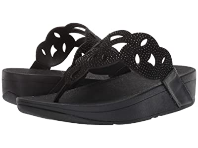 FitFlop Elora Crystal Toe Thong Sandal (Black) Women