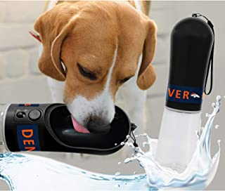 DOG Water Bottle. NFL DENVER BRONCOS PET WATER BOTTLE. BEST Cat Water Bottle. Water Fountain Dispenser for DOGS & CATS.