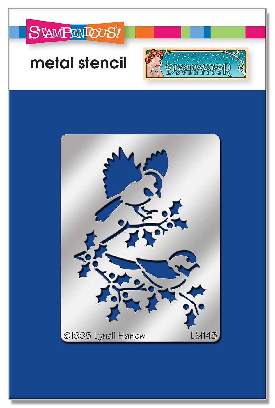 Stampendous DWLM143 Dreamweaver Stencil, SM Chickadees