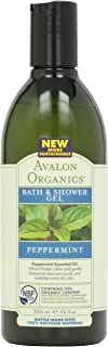 Avalon Organic Botanicals, Bath & Shower Gel, Mint, 12 oz