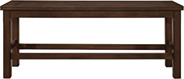 Homelegance Counter Height Dining Bench Brown