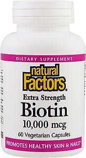 Biotin Extra Strength 10,000 mcg Natural Factors 60 VCaps