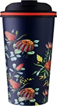 Avanti Go Cup Double Wall Travel Cup, Australian Natives - Navy, 13475