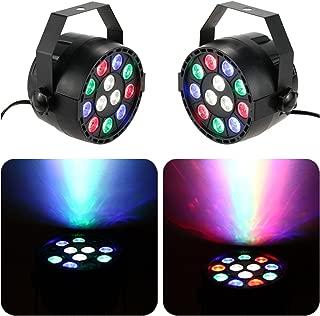 Rainiers 12W Led Uplight RGBW PAR Light Mini 12 LEDs 8 Channel DMX512 Colorful Wall Wash for KTV, Bar, Wedding, Festival Party … (2 pack)