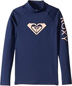 8133be0db96e8b Whole Hearted Long Sleeve Rashguard (Big Kids)