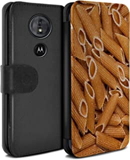 eSwish PU Leather Wallet Flip Case/Cover for Motorola Moto G6 Play 2018 / Penne Pasta Design/Food Collection