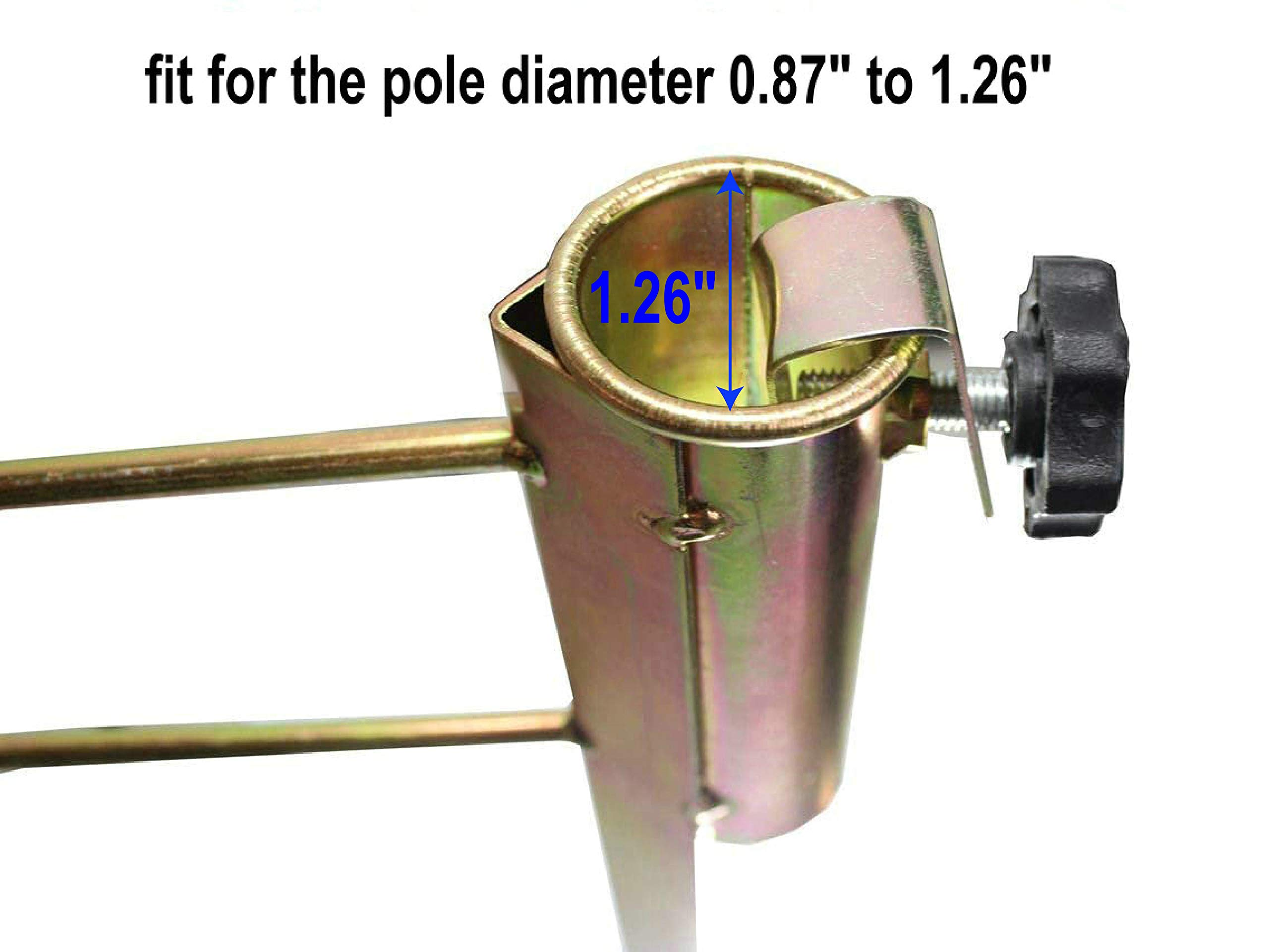 Heavy Duty Umbrella Stand Adjustable Beach Anchor Spike Auger Holder for Pole US