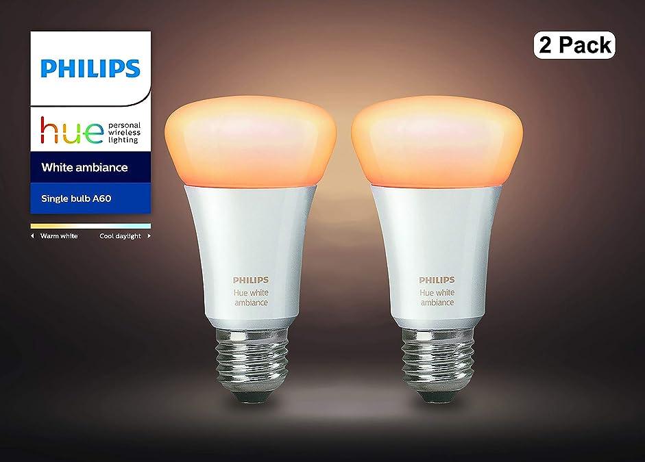 理解神経障害休日【アウトレット品】Philips Hue ホワイトグラデーション シングルランプ(電球色~昼光色) 2個セット| E26スマートLEDライト2個 |【【Amazon Echo、Google Home、Apple HomeKit、LINE対応】