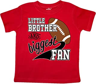 Little Brother and Biggest Fan- Football Player Toddler T-Shirt