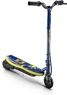 Patinete eléctrico VR46 niño, Modelo Kiddy, Valentino Rossi, 9 kg, hasta 10 km de autonomía, Motor 120 W, Amarillo Azul, T...