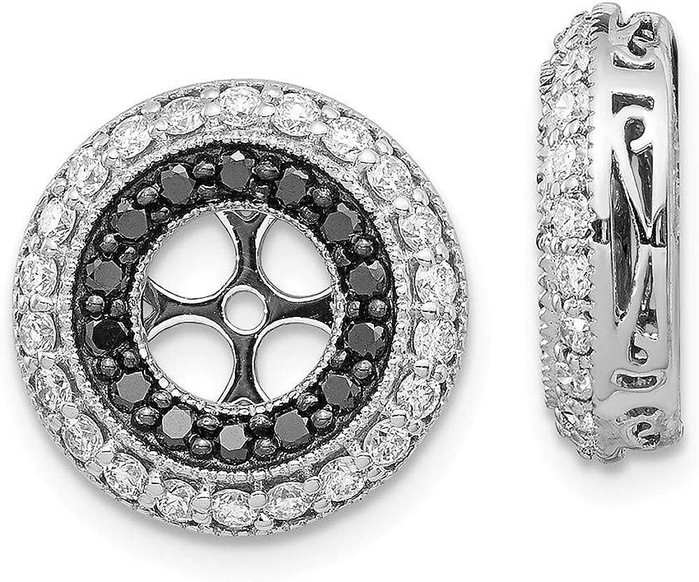 14K White Gold Black Diamond Round Jacketss 5.00 4 years warranty Industry No. 1 Earring