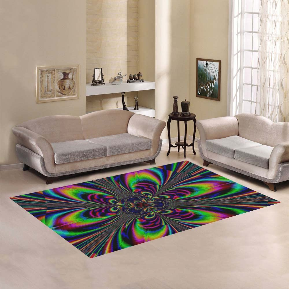 INTERESTPRINT AnnHomeArt Limited time cheap sale Abstract Area Carpet7'x5' Rug Cheap mail order sales Modern