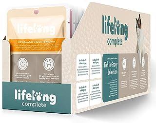 Amazon-merk: Lifelong individuele voeding voor volwassen katten- selectie van vissen in saus, 2,4 kg (24 zakken x 100g)