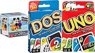 Uno Dos Tres! Wild Card Uno Card Game + Dos #2 & Figure Pack Blind Bag Mystery Mini Crossy Roads Character Backpack Hanger