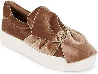 j/slides JSlides Women's Annabelle Fashion Sneaker (8, Taupe Velvet)