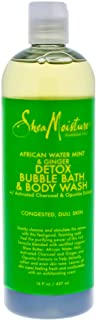 Shea Moisture African Water Mint And Ginger Detox Bubble Bath And Body Wash For Unisex, 473 ml