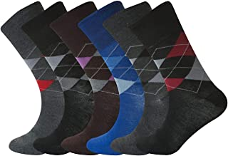 6 Pairs Mens rich Cotton Mans Non Elastic Diabetic Antibacterial colourful socks UK Size 6-11 QZ fashion ®