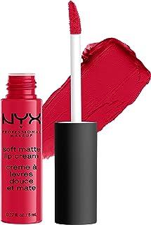 NYX Professional Makeup Pintalabios Soft Matte Lip Cream, Acabado cremoso mate, Color ultrapigmentado, Larga duración, Fórmula vegana, Tono: Amsterdam