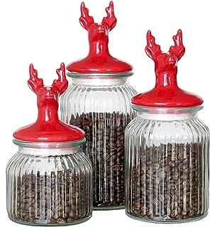 Bocaux Hermetiques Alimentaires Pors de rangement en verre européen Scellé Can avec couvercle Cuisine Distributeur de céré...