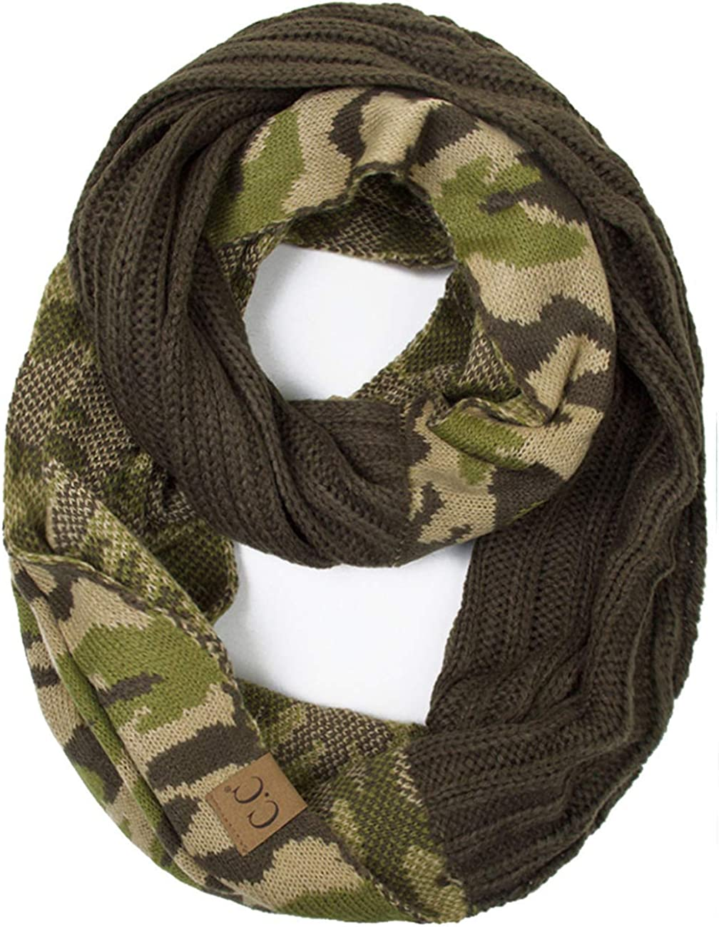 ScarvesMe CC Hot and New Cable Super special Austin Mall price Camouflage Winter Warm Camo Knit