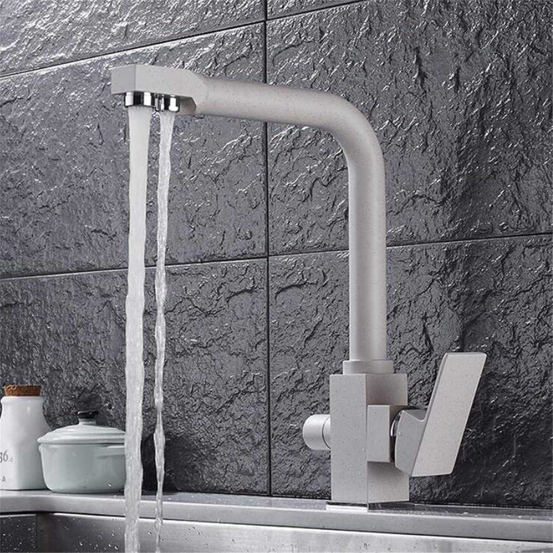Faucets Basin Mixer Kitchen Faucet Quartz Stone Matte Oatmeal Hot and Cold Faucet Water Purifier