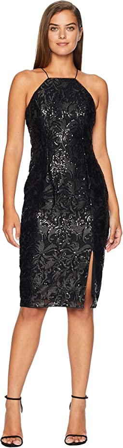 Halter Sequin Dress