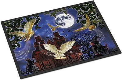 Caroline's Treasures Halloween Owl Express Door Mat doormats, Multicolor