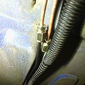 LKJsagd Voiture br/ûl/ée Bleu Mat tuyaux d/échappement en Fibre de Carbone Double///Longueur d//échappement/240 mm Embouts d/échappement Buses de Silencieux Tuyau d/échappement