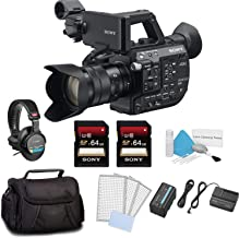 Sony PXW-FS5 XDCAM Super 35 Camera System w/Zoom Lens Bundle Kit with 2X 64GB Memory Card + Carrying Case + Sony MDR Headphones and More