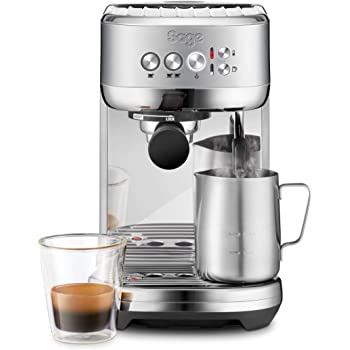 Sage SES500BSS Bambino Plus Espresso Maker, 1600 W, Stainless Steel