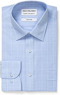 Van Heusen Men's Classic-Relaxed Fit Glen Plaid Business Shirt