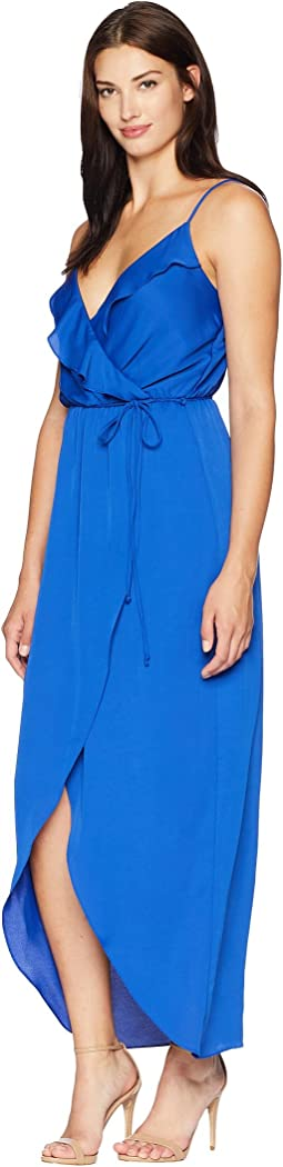 Mia Spaghetti Strap Maxi Dress with Ruffle Detail
