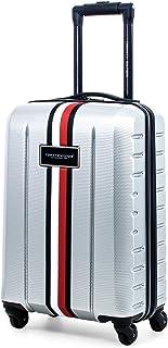 Tommy Hilfiger Riverdale Hardside Spinner Luggage, Light Grey, 21 Inch