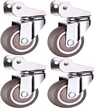 Meubelwiel, 4 stuks mute universeel wiel, 1,5 inch/2 inch flip wiel, kinderbedkruk Castor wielen kunnen 360 graden draaie...