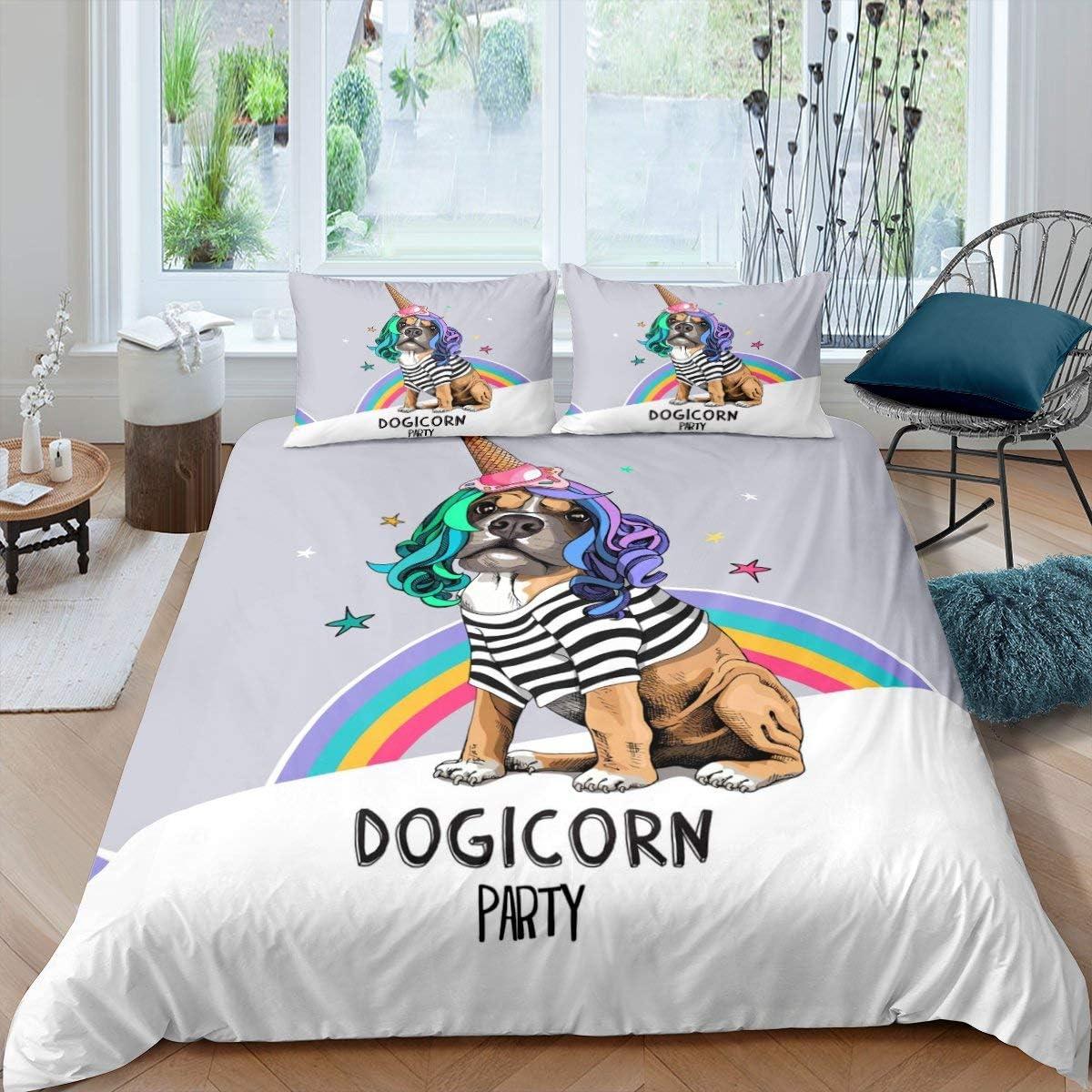 Erosebridal Cartoon Dog Comforter 40%OFFの激安セール 超激安 Cover Pug Duvet Kaw Cute