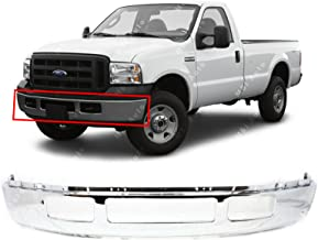 MBI AUTO - Chrome, Steel Front Bumper Shell for 2005 2006 2007 Ford F250 F350 Super Duty Pickup W/Out Fender Flare Holes 05-07, FO1002392