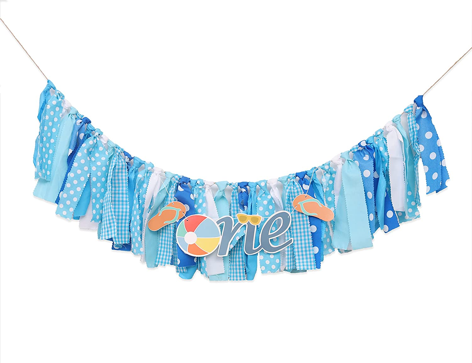 Beach Outstanding Fashion Ball Theme Highchair Banner Birthday Decorations for Chi -