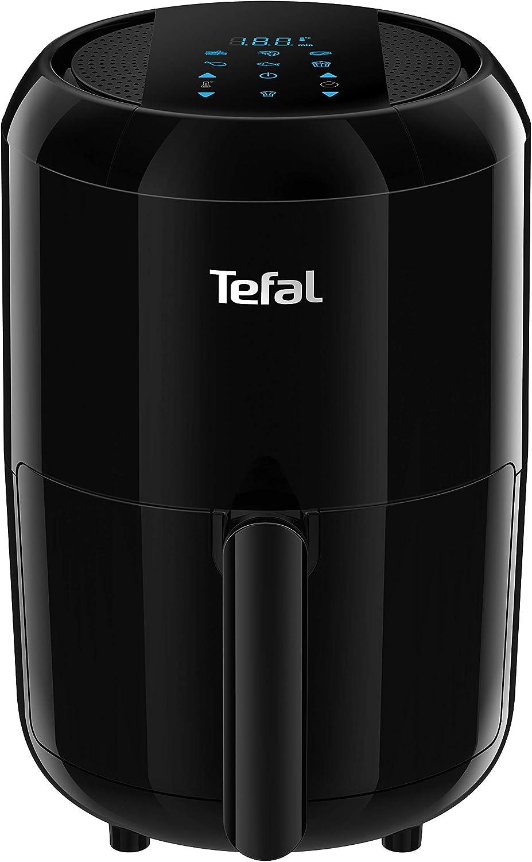 Tefal Easy Fry Compact Digital EY3018 - Freidora sin aceite para preparaciones sanas, fríe con aire caliente, diseño compacto, 6 programas automáticos, apagado automático, 1400 W, 1.6 litros, Negro