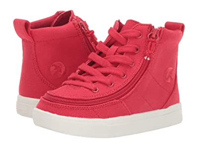 BILLY Footwear Kids Classic Lace High (Toddler) (Red Canvas) Kid