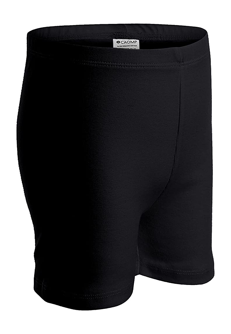 CAOMP Girls' Bike Short 100% Organic Cotton for Sports and Under Skirts