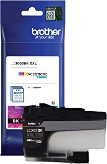 Brother Genuine LC3033BK, Single Pack Super High-Yield Black INKvestment Tank Ink Cartridge, Page Yield Upto 3,000 Pages, ...