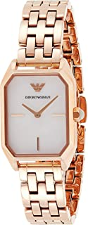 Emporio Armani Women's Mother Of Pearl Dial Stainless Steel Analog Watch - AR11147, Rose Gold