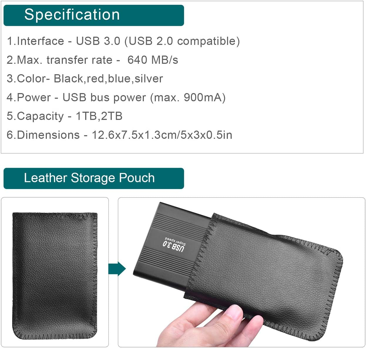 1TB,Rojo Xbox One,Laptop,Chromebook Disco Duro Externo Ultra Slim Port/átil Almacenamiento para PC Disco Duro 1 TB Externo