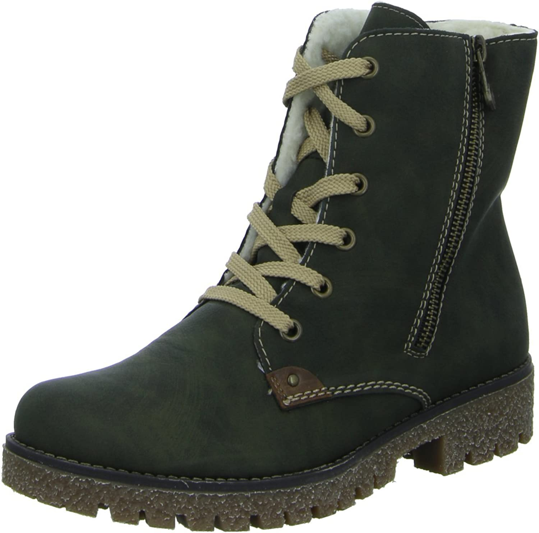 Rieker Women Ankle Boots green, (forest mogano) 79839-54
