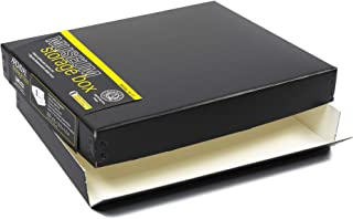 Lineco 8x10 Black Museum Archival Storage Box, Drop Front Design. 8 1/2 x 10 1/2 x 1 1/2 in. Acid-Free with Metal Edge. Protects Pic Longevity, Organize Photos or Documents, Crafts, DIY.
