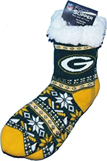Green Bay Packers Womens Footy Slippers