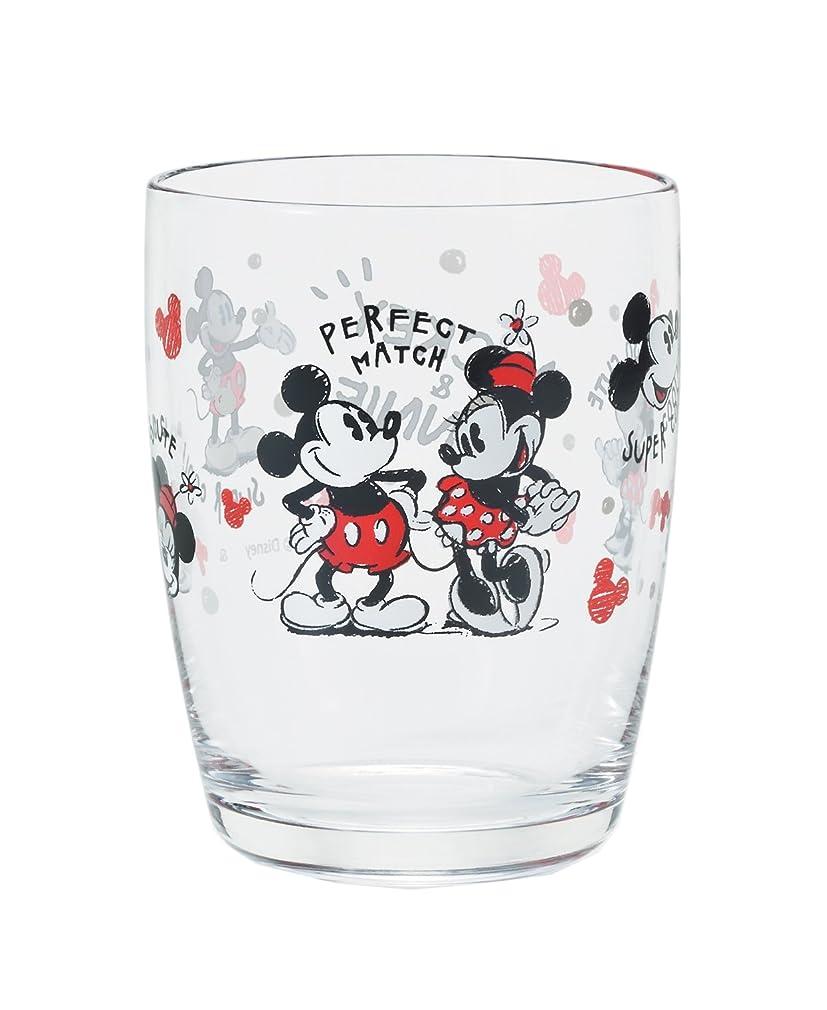正当な水分教育するアデリア タンブラー ミッキ-&ミニ- 265ml ディズニー スケッチグラス 日本製 1813