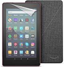 "Fire 7 Tablet (7"" display, 16 GB) - Black + Amazon Standing Case (Charcoal Black) + Screen Protector (Clear)"