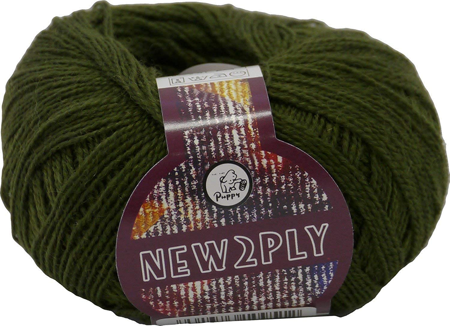 Hiromi House Japan New 2 PLY wool thread col. 251 green 25 g 215 m 10 ball set